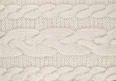 Bianco lavorato a maglia Immagine Stock