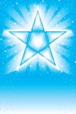 Bianco luminoso della mosca della stella blu Fotografie Stock Libere da Diritti