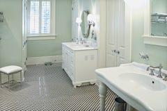 bianco nero della stanza da bagno Fotografie Stock
