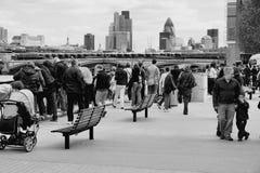 Bianco nero di Londra Fotografie Stock