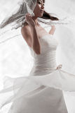 Bianco nuziale Fotografia Stock Libera da Diritti