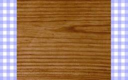 Bianco porpora della tovaglia di legno del fondo Fotografia Stock