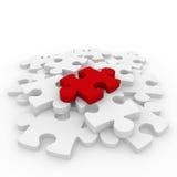 bianco rosso di puzzle 3d Fotografia Stock Libera da Diritti