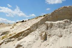 bianco sabbioso della sabbia della montagna fotografia stock libera da diritti
