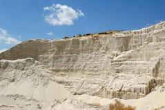 bianco sabbioso della sabbia della montagna Fotografie Stock Libere da Diritti