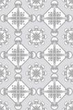 Bianco senza giunte sul reticolo grigio della carta da parati Fotografie Stock Libere da Diritti