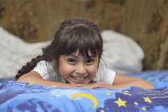 bianco sorridente isolato ragazza Fotografie Stock