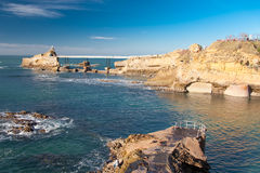 Biarritz. Coast in the village of Biarritz, France Stock Image