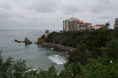 Biarritz Atlantic Ocean Royaltyfri Bild