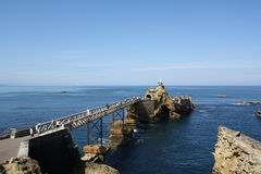 Biarritz Atlantic Ocean Arkivfoton