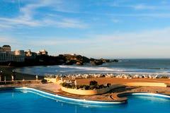 Biarritz baai Royalty-vrije Stock Foto's