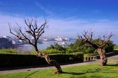 Biarritz bay Stock Image