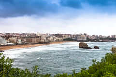 Biarritz on the Bay of Biscay Stock Image