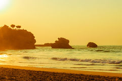 Biarritz beach Stock Image