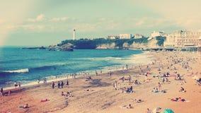 Biarritz Beach Romantic View Stock Images
