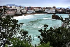 Old man - Biarritz - France. Biarritz is a city on the Bay of Biscay, on the Atlantic coast in the Pyrénées Atlantiques department in the French Basque Country Stock Images