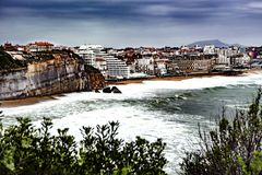Old man - Biarritz - France. Biarritz is a city on the Bay of Biscay, on the Atlantic coast in the Pyrénées Atlantiques department in the French Basque Country Royalty Free Stock Photography