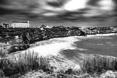 Biarritz - France. Biarritz is a city on the Bay of Biscay, on the Atlantic coast in the Pyrénées Atlantiques department in the French Basque Country in Stock Photos