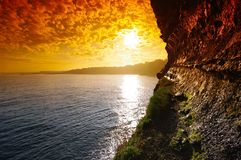 biarritz cliff Royalty Free Stock Images