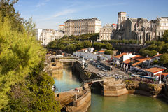 Biarritz, coast of france Royalty Free Stock Photos