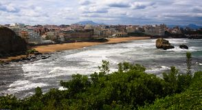 Biarritz Coastline Royalty Free Stock Photography