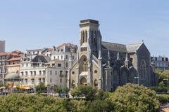 Biarritz Eglise Sainte Eugenie Stockfotografie