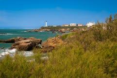 Biarritz - faro y mar Imagen de archivo