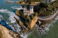 Biarritz, França, a casa de campo Beltza, país Basque francês fotografia de stock