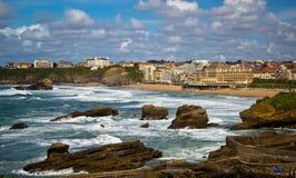 biarritz france Arkivbilder