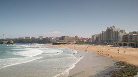 Biarritz france stock footage