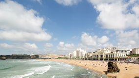 Biarritz france stock video footage