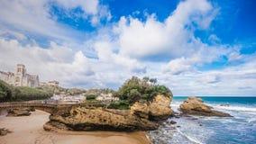 France landscape beach ocean stock photography