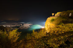 Biarritz in France at night Royalty Free Stock Photos