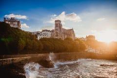 Biarritz france ocean sky Royalty Free Stock Images