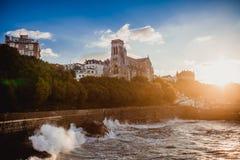 Biarritz france ocean sky Royalty Free Stock Photo