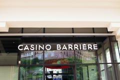 Biarritz/Francia 27 07 18: Casinò Barrière Francia Biarritz fotografia stock libera da diritti