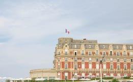 Biarritz/Frankrijk 27 07 18: hotel du palais Biarritz betaalt Baskisch stock foto's
