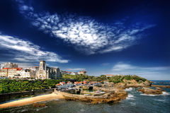 biarritz hamn Arkivfoto