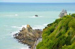 Biarritz in het Franse Baskische Land (Pays Basque) stock afbeelding