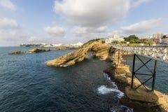 Biarritz-Küste, Frankreich stockfotografie