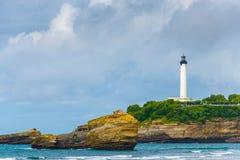 Biarritz latarnia morska Zdjęcie Royalty Free