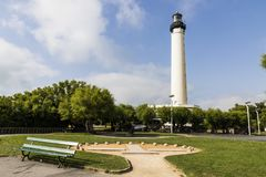 Biarritz-Leuchtturm, Frankreich lizenzfreies stockbild