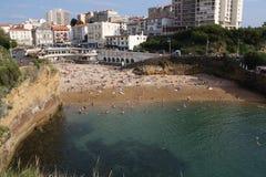 Biarritz Océano Atlántico Foto de archivo libre de regalías