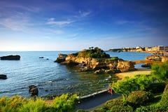 Biarritz Popołudnie Obrazy Royalty Free
