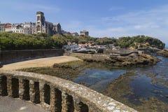 Biarritz port Vieux Arkivfoton