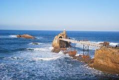 biarritz roc dziewica Fotografia Royalty Free