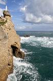 Biarritz Rocher de la vierge, France Royalty Free Stock Photography