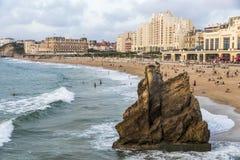 Biarritz-Strand, Frankreich stockbilder