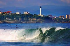 biarritz wave Arkivfoton