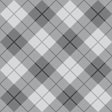 Bias Plaid in Grey. Classic diagonal plaid pattern in grey repeats seamlessly Stock Photos